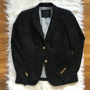 [J. Crew] Black Wool Schoolboy Blazer